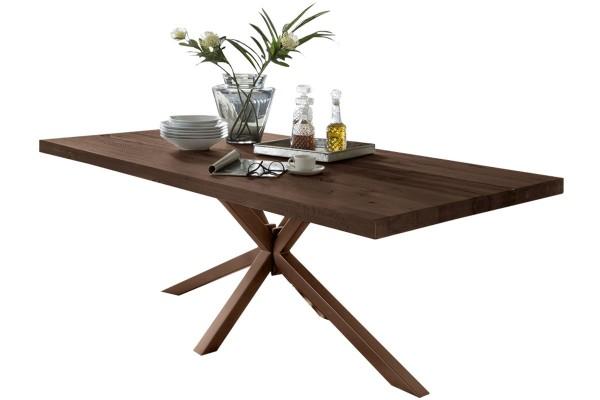 Tisch 240x100 cm, Balkeneiche Räucheröl-Finish (TISCHE) 15053-00