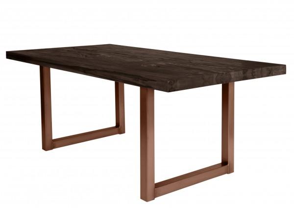 Tisch 240x100 cm, Balkeneiche carbon-grau (TISCHE) 15173-00