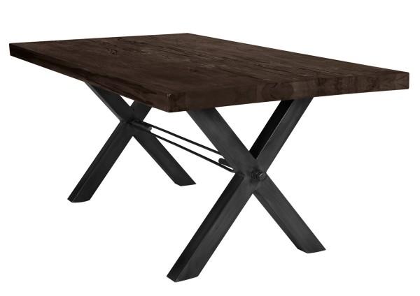Tisch 240x100 cm, Balkeneiche carbon-grau (TISCHE) 15133-11