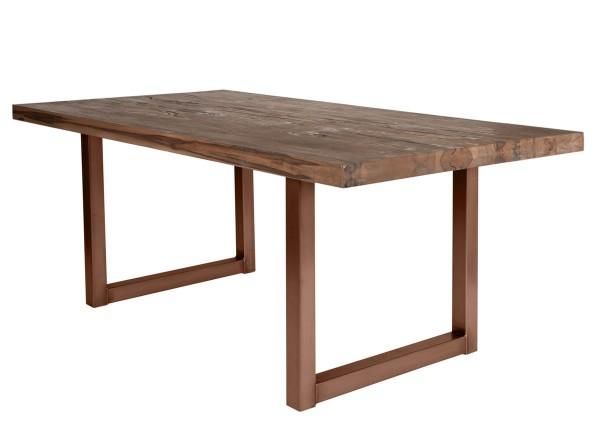 Tisch 240x100 cm, Balkeneiche Räucheröl-Finish (TISCHE) 15153-00