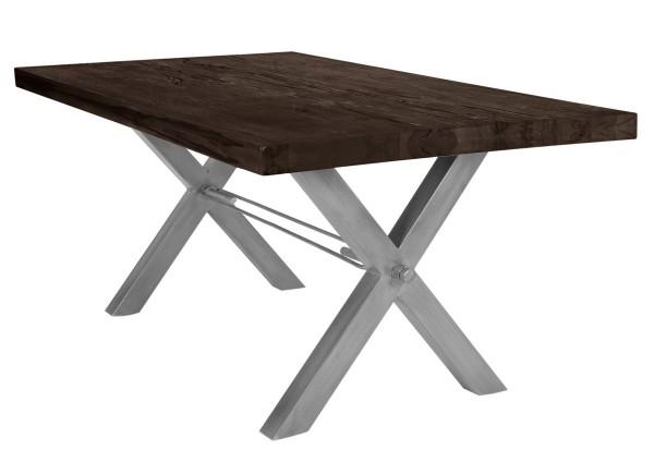 Tisch 240x100 cm, Balkeneiche carbon-grau (TISCHE) 15133-40
