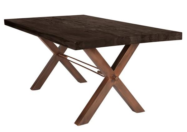 Tisch 240x100 cm, Balkeneiche carbon-grau (TISCHE) 15133-00