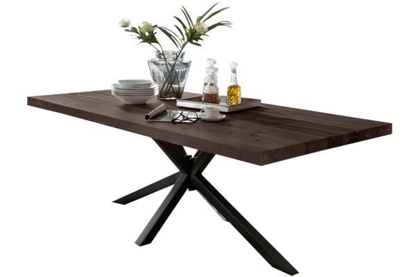 Tisch 240x100 cm, Balkeneiche carbon-grau (TISCHE) 15063-11