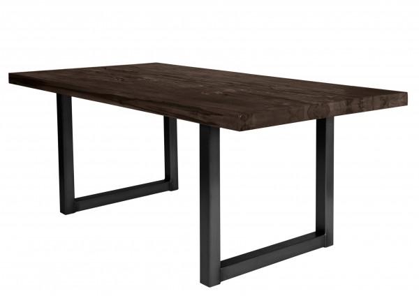 Tisch 240x100 cm, Balkeneiche carbon-grau (TISCHE) 15173-11